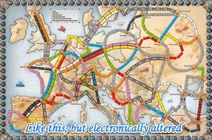Ticket to Ride: Europe DLC is off the rails
