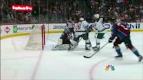 Dany Heatley cleans up rebound for goal