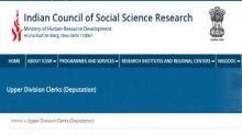 ICSSR Recruitment 2020 For Upper Division Clerks (UDC) Posts, Apply Offline August 17