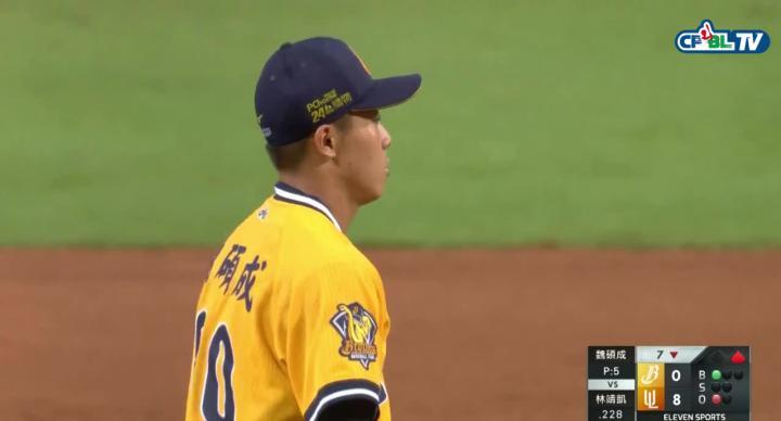 魏碩成生涯初登板 就送出第一次三振