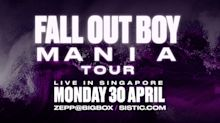 Fall Out Boy is performing in Singapore on 30 April 2018