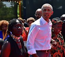 Obama visits father's native Kenya to open youth center