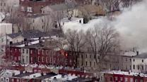 Families displaced after large Jersey City fire