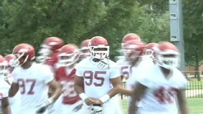 Hogs Hold First Practice Of The Season