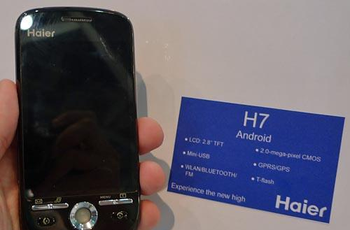 Haier H7 Android handset set for September launch