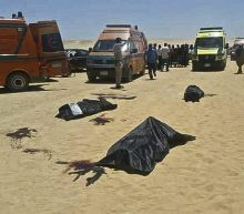 Minya bus shooting: Donald Trump says 'bloodletting of Christians must end' after 28 die in Egypt gun attack
