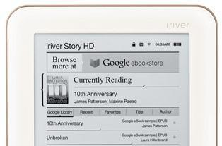 iRiver Story HD becomes first Google eBooks-integrated e-reader, won't be the last
