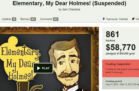 Ouya Free the Games Fund project 'Elementary, My Dear Holmes' suspended by Kickstarter