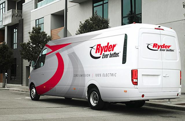 Ryder is adding 125 electric vans to its rental fleet