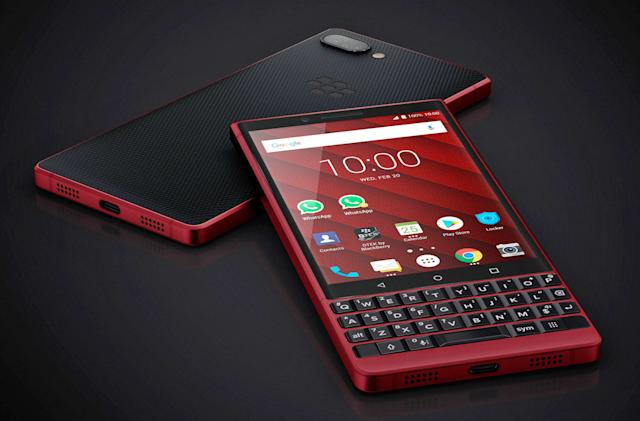 BlackBerry KEY2 will be available in a souped-up red model