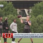 First look: Joe Burrow throws to A.J. Green, Bengals teammates
