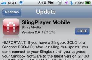 Slingplayer Mobile for iPhone updated to 2.0 with high quality video streaming and new guide