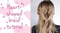 A Gorgeous Heart-Shaped Braid (In Only 5 Minutes!)