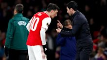 Mikel Arteta takes the blame after failing to get the best out of Mesut Ozil