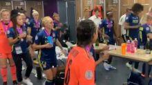 Foot - C1 (F) - Ligue des champions: la danse de la victoire de l'OL en vidéo