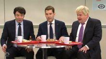 'Saturday Night Live': Jimmy Fallon, Paul Rudd, James Corden Play 'Bad Boys' in NATO Cafeteria (Watch)