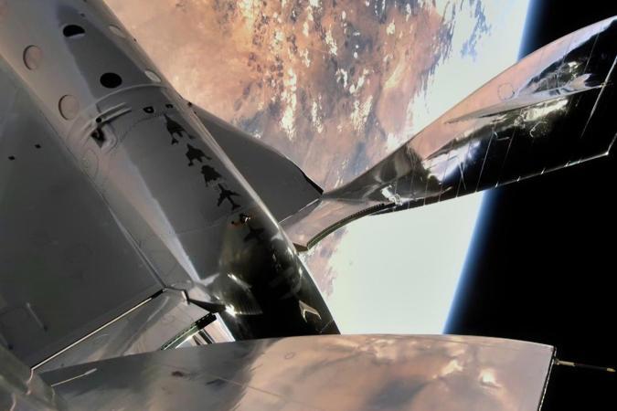 Virgin Galactic SpaceShipTwo in space