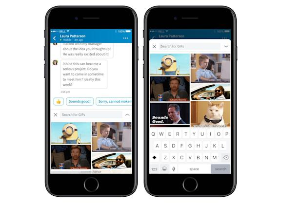 LinkedIn Messenger gets GIFs for... job searching?