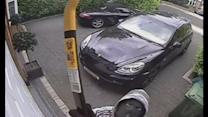 CCTV shows robbers smashing camera