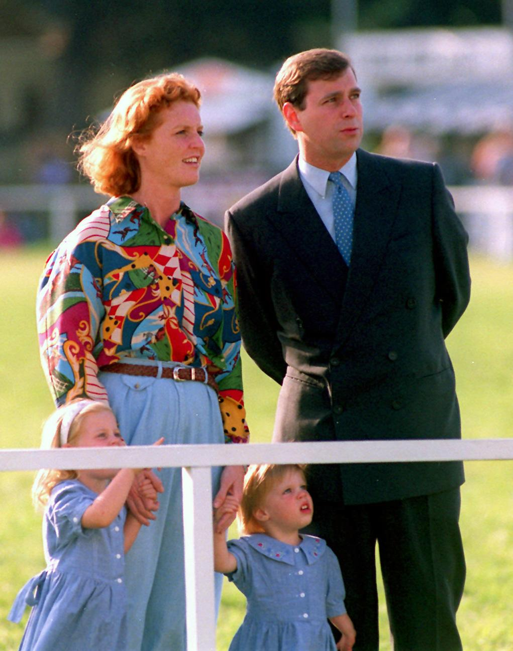 The Duke and Duchess of York attending the Royal Windsor Horse Show with their daughters Princess Beatrice (left) and Eugenie.  16/04/1996 : The couple announced that their marriage is to be formally ended in divorce, following more than two years separation.