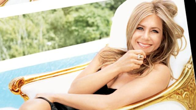 Aniston's Engagement Ring Rocks Glamour Magazine Cover