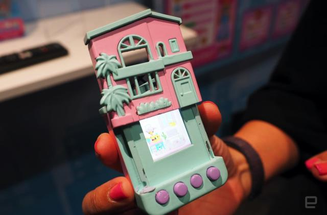 Polly Pocket meets Tamagotchi in this portable LCD home