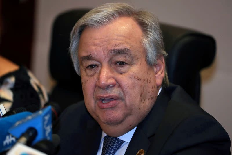 U.N. chief calls on G20 nations to boost resources to aid coronavirus pandemic
