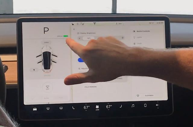 Tesla Model 3's touchscreen control panel detailed in new video