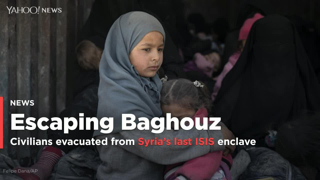PHOTOS: Escaping Baghouz: Civilians evacuated from Syria's last ISIS enclave