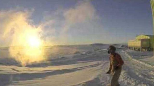 Boiling Water Meets -4°F in the Antarctic