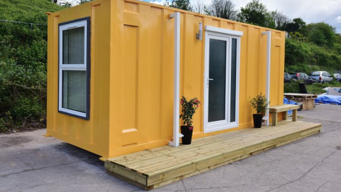 Is this converted shipping container a solution to Britain's homeless 'crisis'?