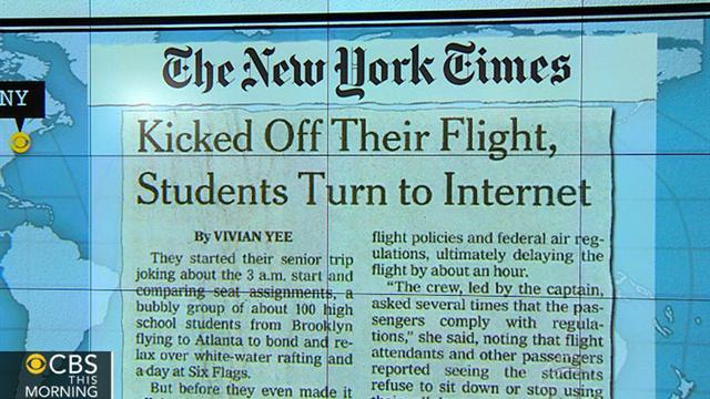 Headlines at 8:30: High school students kicked off plane