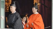 Los trajes tradicionales de Masako y Naruhito en la ceremonia de entronización