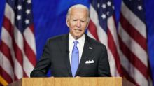 Joe Biden promises end to national 'darkness' as he formally accepts Democratic nomination for president
