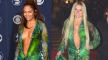 Spice Girls star Geri Halliwell wore the Versace jungle dress one month before J.Lo