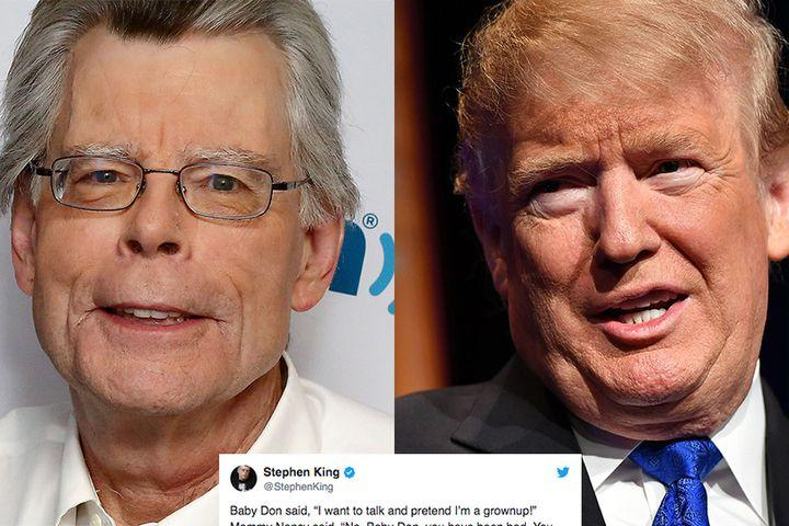 5f7db6640ac Stephen King creates a Twitter play to brutally mock Donald Trump