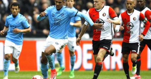 Foot - C3 - OL - Sébastien Haller (Utrecht) et Nicolas Isimat-Mirin (PSV) décryptent le jeu de l'Ajax