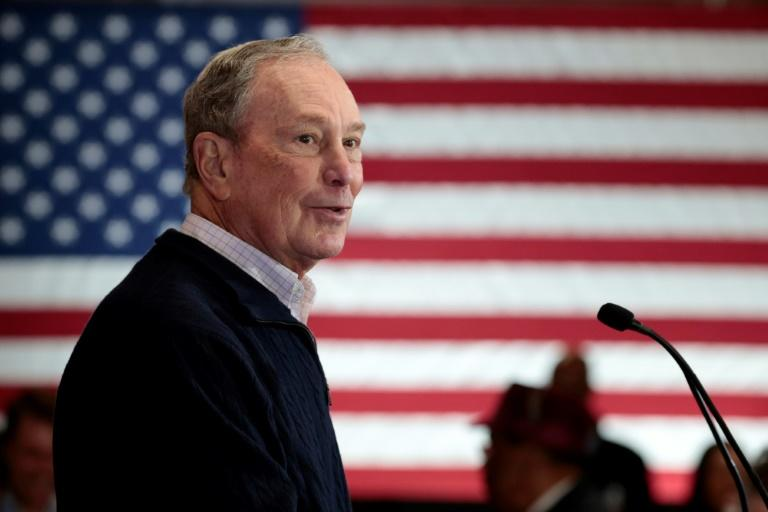 Former New York mayor and media mogul Mike Bloomberg, seen here campaigning in Detroit in December 2019, has injected more than $200 million of his own money in the campaign (AFP Photo/JEFF KOWALSKY)