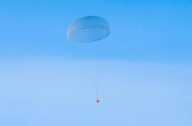 ESA tests its giant Mars mission parachute