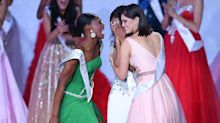 Internet Swoons Over Miss Nigeria's Thrilled Response To Pal's Miss World Win