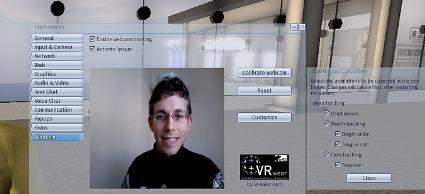 Face and head tracking for Second Life avatars