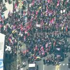 Thousands March in Los Angeles to Mark Anniversary of Armenian Genocide