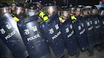 South Korea police clash with protesters over ferry disaster