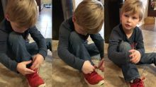 People are loving this 5-year-old boy's 'genius' shoe-tying hack