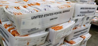 USPS warns 2 states about delivery of mail-in ballots
