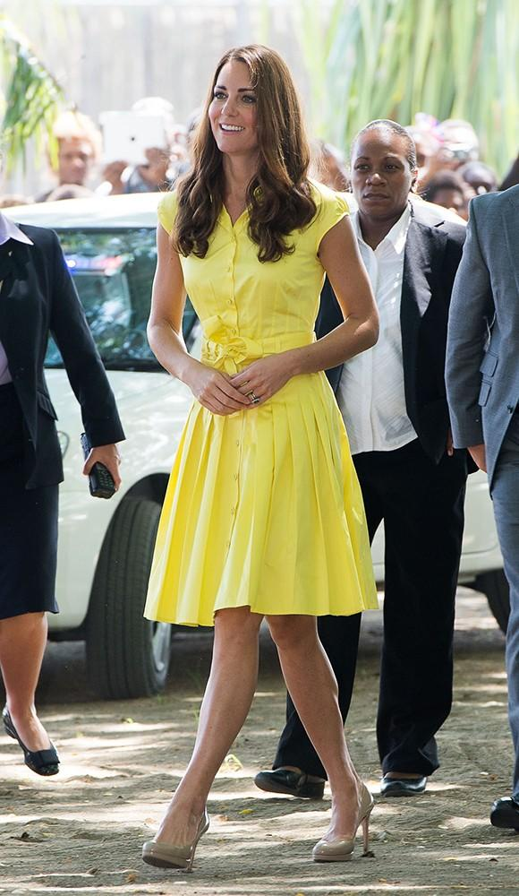 This yellow Jaeger shirtdress was light, bright and cool for the warm island weather.