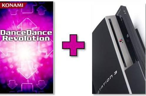 Dance Dance Revolution stepping to PS3
