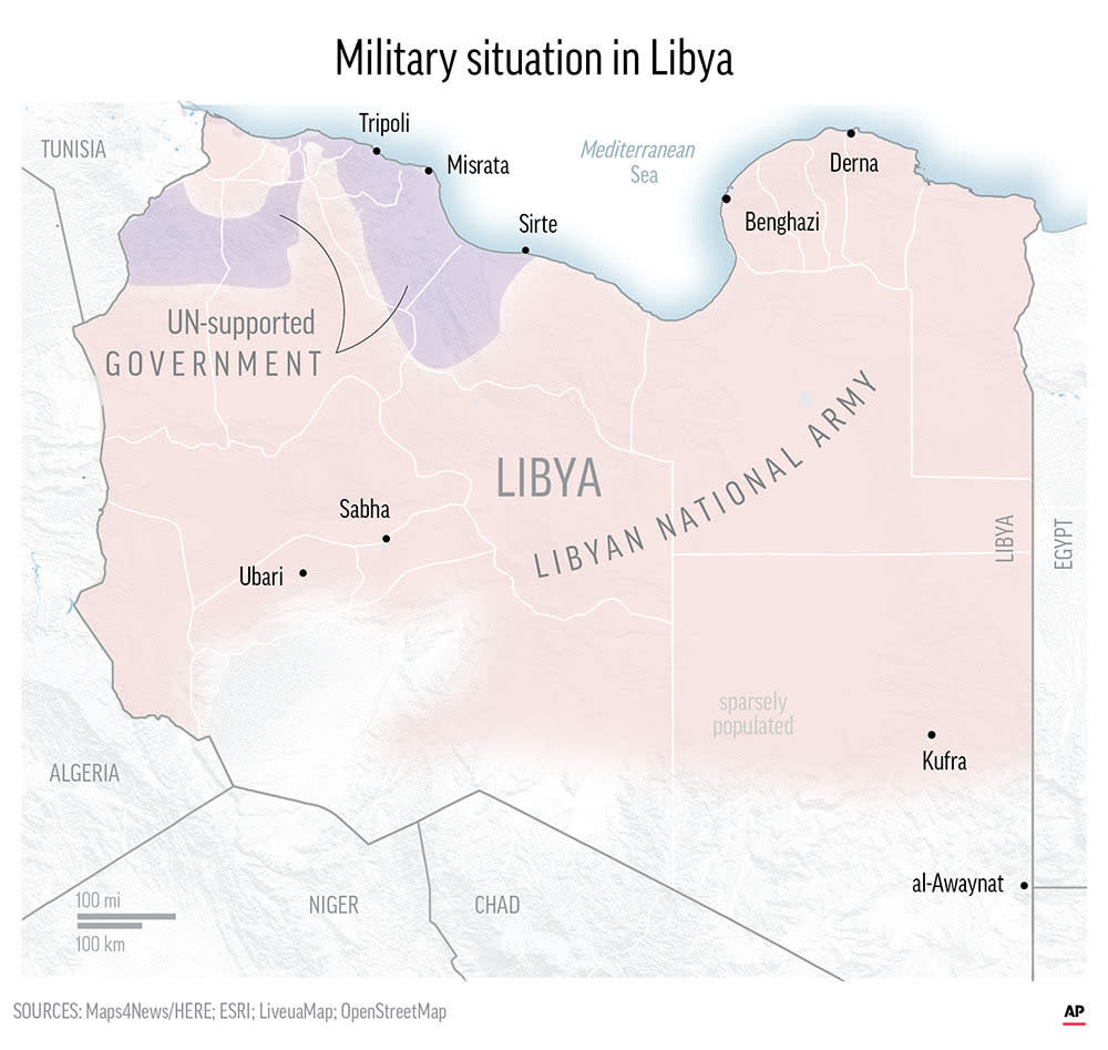 Gen. Khalifa Hifter and the Libyan National Army have been waging an offensive against rival militias in the capital and surrounding areas since April. ;