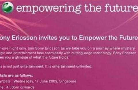 Sony Ericsson launching something at ComunicAsia this week -- XPERIA X2, maybe?