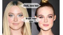 Dakota & Elle Fanning's Sequined Eyes